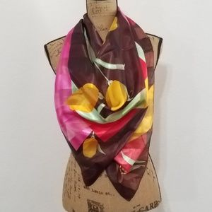 """Accessories - Floral square scarf - 39"""" x 39"""""""
